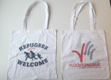Stoffbeutel Refugees still Welcome